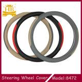 Части автомобиля, крышка рулевого колеса автомобиля волокна кожаный