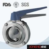 الفولاذ المقاوم للصدأ الصحية فرضت صغير الحجم صمام فراشة (JN-BV4004)