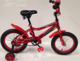 Color rosso Tube Kids Bike/Kids Bicycle con il sedile posteriore/Carrier Bicycle per Young Children