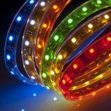 Indicatore luminoso impermeabile 85-95LM/W della decorazione di colore di RGB della striscia di SMD5050 LED