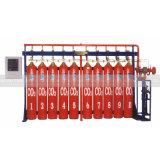 高圧二酸化炭素の消火システム
