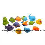 El verano caliente modificó los juguetes animales del baño para requisitos particulares de los conjuntos del juego del bebé
