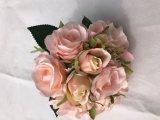 생생한 다채로운 실크 꽃 인공적인 로즈 결혼식 호텔 대중음식점 훈장 꽃