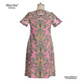 Фабрика платья флористических женщин печати Miss Вы Ailinna 101586 Linen