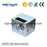 Explorador de alta velocidad del galvanómetro Jd2207 de la pieza de la cortadora del laser de la fibra