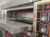 Dubbel Dek 4 van Hongling Commerciële Oven van de Bakkerij van het Dek van Dienbladen de Elektrische
