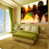 ホーム装飾のための一義的なデザイン環境の図形壁カバーの壁画