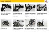 """20 """" noir du bâti 250W d'alliage d'aluminium pliant la bicyclette d'E (JSL039XH-4)"""