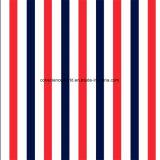 100%Polyester Pigment&Disperse blu rosso ha stampato il tessuto per l'insieme dell'assestamento