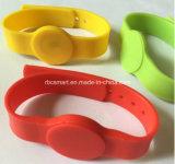 La identificación del Hf RFID/NFC saltara Wristbands impermeables de la pulsera del silicón Ntag213