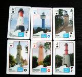Tarjetas que juegan de visita turístico de excursión del papel de Gdynia para Polonia (55 tarjetas)