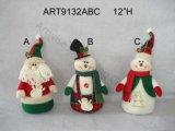 """17 """" H restant Santa et bonhomme de neige, décoration d'Asst-Noël 3"""