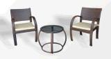 Presidenza esterna di svago della mobilia del rattan e Table-3