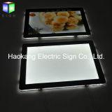LED-Plakat-Schaukasten-Acryl, das hellen Kasten bekanntmacht