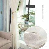 Tela completa da cortina do Voile contínuo de linho clássico de Upholstery (18F0103)