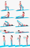 Faixa elástica da aptidão da ioga do látex para a terapia física de Crossfit da aptidão