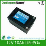 Mini batería de ion de litio ligera solar recargable 12V10ah