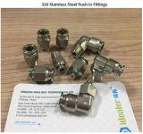 conector del tubo del acero inoxidable 316L--Tabique hermético (SSPMM06)