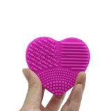 Пусковая площадка Esg10195 косметического силикона сердца перчатки перста уборщика щетки состава форменный Scrubbing