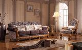 Stijl van de Bank van het hotel de Vastgestelde Amerikaanse Klassieke met Stof en Houten Frame