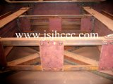 32mの鋼板ガードの鉄骨構造の鉄道橋