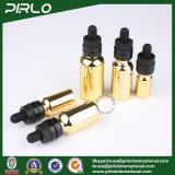 bottiglie del contagoccia del E-Liquido delle bottiglie di olio essenziale di vetro dell'oro di 20ml 30ml 50ml 100ml