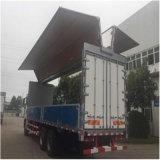 HOWO 3명의 Axles Ving 밴 Truck Steel 상자 밴 Hydraulic Side 날개 열려있는 트럭