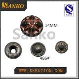 Botón de aleación de zinc Snap en 21mm y 17mm metal Snap Button