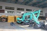高品質6tonの油圧車輪の掘削機、販売のための小型車輪の掘削機