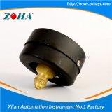 Manomètres généraux de caisse en acier noire axiale de 2.5 pouces avec le connecteur en laiton