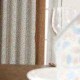 Cortina ambiental del dormitorio del damasco del negocio con el llano teñido