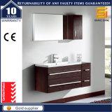 Governo bianco della mobilia della stanza da bagno della vernice con lo specchio