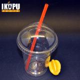 Kop van het Huisdier van Wholesales 12oz personaliseert de Beschikbare Plastic met Deksel, Vrij Ontwerp Embleem, de Plastic Koppen van het Sap