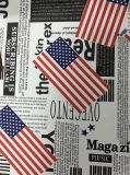 소파 (HS039#)를 위한 특별한 인쇄 재잘거림 인공 가죽