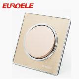 Farben-Kupfer-elektrischer Wand-Schalter des 86*86mm Gold250v/10a