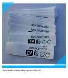Etiqueta engomada tejida ropa tejida aduana de la talla de la escritura de la etiqueta