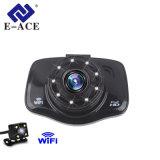 Câmera dupla do carro da função de WiFi da câmera do carro DVR da lente