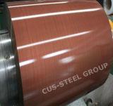 Снятая Prepainted оцинкованная жесть/напечатала катушку PPGI стальную