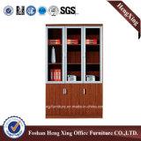 Aluminiumglastür-Büro-Bücherschrank-moderne Melamin-Büro-Möbel (HX-4FL012)