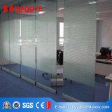 Porte en verre de glissement en aluminium de partition