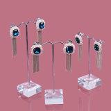 Crémaillère d'étalage pendante de boucle d'oreille acrylique