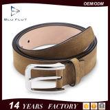 Echtes Leder-Entwerfer schnallt Metallfaltenbildung-Oberseite-Korn-Rindleder-Mann-Riemen um
