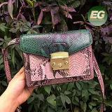 Saco de ombro personalizado Emg5100 da senhora Bolsa Cor Colisão da alta qualidade da bolsa de 2017 mulheres da serpente do projeto o teste padrão o mais novo