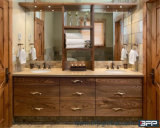 De Dubbele Gootsteen van Undermount van het Kabinet van de badkamers met Woodgrain Plank