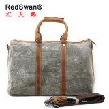高品質の本革の洗浄されたキャンバスの人のハンドバッグ(RS-1011)