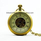 Kundenspezifische antike Pocket Uhr Japan-Movt mit Kette
