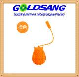 Stainer arancione del silicone di figura del gufo di colore