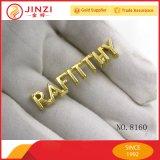 Jinzi 핸드백을%s 주문 금속 로고 격판덮개, 금속 편지 로고 및 의류