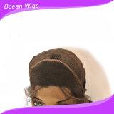 Peruca do laço da parte dianteira de onda do corpo do cabelo humano de Remy do Virgin dos Peruvian do cabelo 100% de Quercy