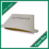 Cartulina acanalada que empaqueta el rectángulo de regalo de lujo del papel de la Navidad